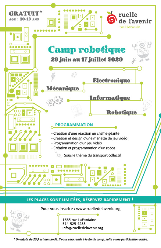 camp robotique 2020